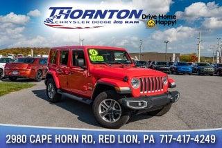 2018 Jeep Wrangler WRANGLER UNLIMITED SAHARA 4X4 In Red Lion, PA   Thornton  Chrysler Dodge